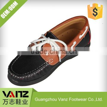 Lace Up Boy Leather Slip On Boat Shoes