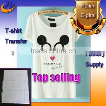 A3 A4 140g 150g Light T-shirt Heat Transfer Paper For Inkjet