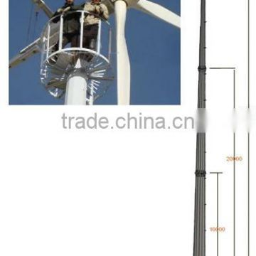 Free Stand Tower for 20kw wind turbines: 30-35M