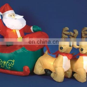 2014 best seller high quality oxford cloth inflatable christmas santa truck with husky dog of Christmas Inflatables from China Suppliers - 157711014