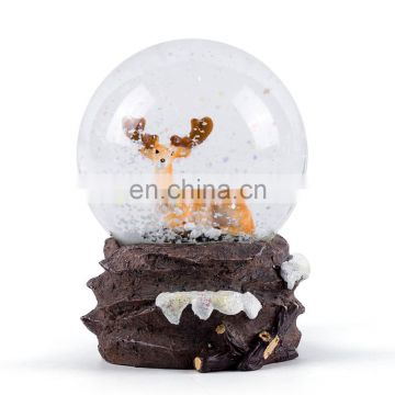 Polyresin water globe with elk design