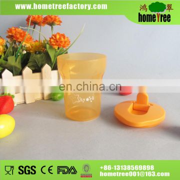 2015 new BPA free transparent kids plastic cup 210ml