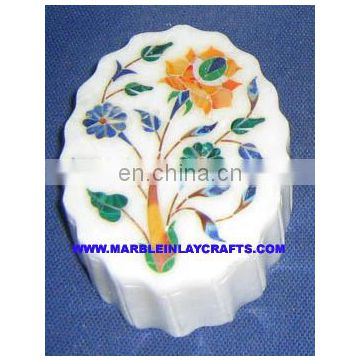 Marble Inlay Stone Boxes, Decorative Marble Box, Marble Small Box, Beautiful Decorative Inlaid Box