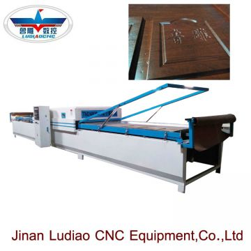 High glossy  PVC Vacuum hot membrane press machine for wood cabinet door