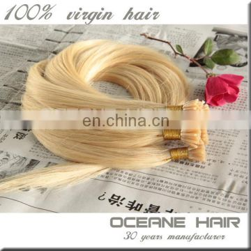 Wholesale 7A remy hair extension,blonde i tip hair,i tip hair extension