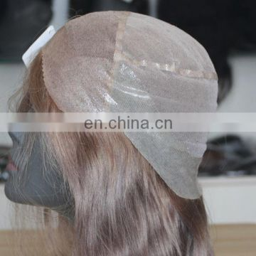 Customized human hair wig to quality glue adhesive full lace wig
