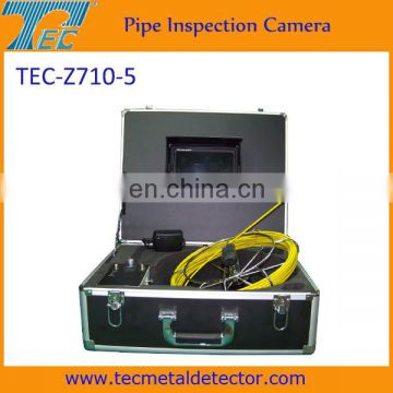 7 inch real color video sewer pipe inspection camera, underwater tube detector TEC-Z710-5