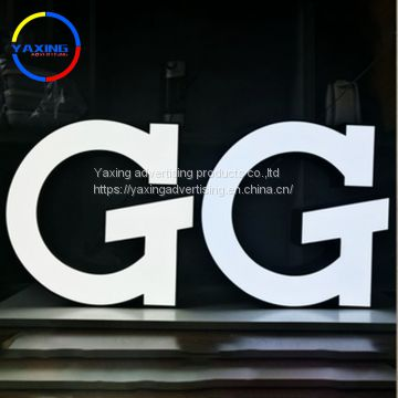 Advertising utdoor/indoor outlet stainless steel backlit house number led letters sign