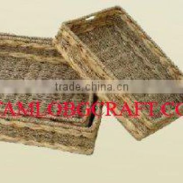 WATER HYACINTH BASKET/ TRAY TCC-BK20