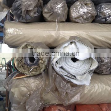 PU artificial leather stock lot B Grade for garments of New Products