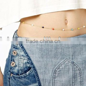 Body Piercing Resin Beaded Waist Chain Belly Chain Body Jewelry,Fashion Body Jewelry Waist Chain for Women