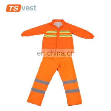 Wholesale 300D oxford fabric bright orange safety apparel suit