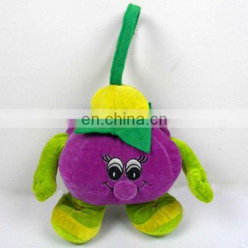 plush stuffed vegetable purple tomato toy