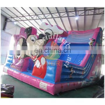 2017 Aier new design hotsale commercial mickey and minnie inflatable slide