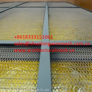 Decorative  Wire mesh cladding can also provide sun shading  inside or the outside