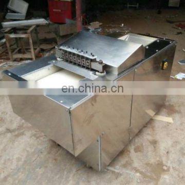 Automatic frozen meat dicer machine ; meat cube cutting machine ;Beef chicken meat cube machine
