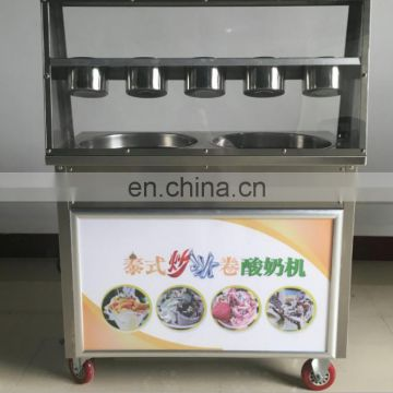 Best Price Commercial fry ice cream roll machine Single Pan Thailand Rolled Fry Ice Cream Machine