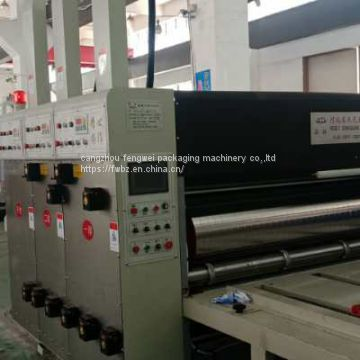 4 coler carton box Automatic printing slotting die- cutting machine