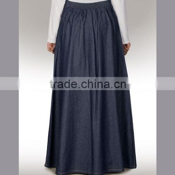 wholesale jean fashion Islamic Maxi skirt,girls Musilim Clothes, jean ladies islamic long skirt suit, fashional Islamic Attire