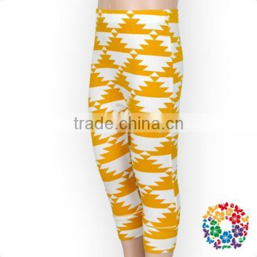 baby boutique yellow geometric long baggy harem pant