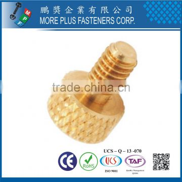 Made in Taiwan Brass M4 Knurled Head Diamond Thumb Screw