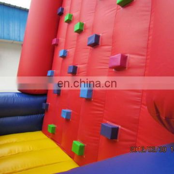 5m height interactive Pyramid Inflatable rock climbing wall for kids
