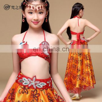 ET-141 Turkish high quality diamond and beaded decorated children belly dance costumes