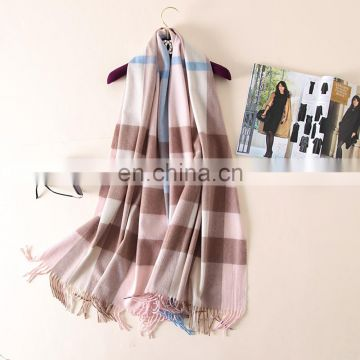 Winter lovers couples grid tartan joker wool pashmina scarf
