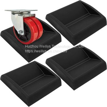 Rubber wheel fixing pad forBed wheel/Table round Chair wheel/Cabinet wheel