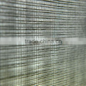 plain dyed 100% polyester chiffon stripe jacquard fabric, heavy dobby poly voile