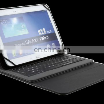 Wireless Bluetooth Silicone Keyboard with Leather Case