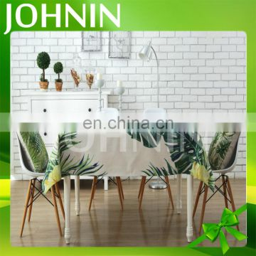 Wholesale Custom Size House Use Rural Creative Green Jungle Linen Table Cloth