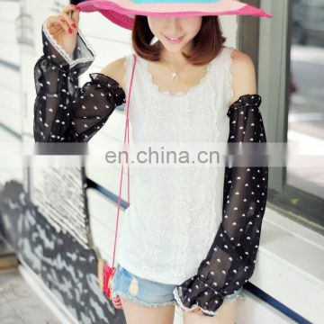 2015 summer Uv protection dot raglan sleeves cappa(FS-02)