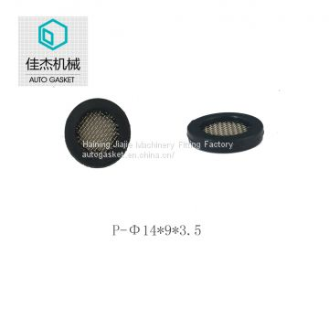Haining jiajie machinery fitting factory rubber&plastic filter mesh gasket