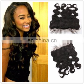 Body wave13*4 frontal remy hair peruvian human hair bundles for black women