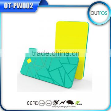 Best quality multi-color Grid Power Bank 4000mAh