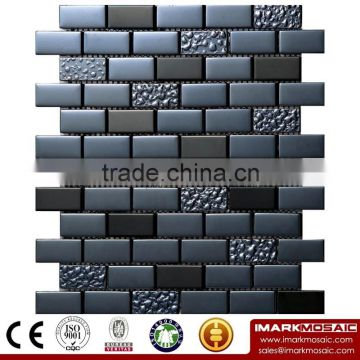 IMARK Electroplated Stainless Steel Mosaic Tiles and Glass Mix Marble Mosaic Tiles(IXGM8-031)