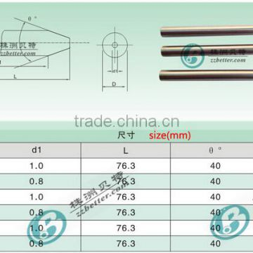 Abrasive sand tube water cutting nozzle in hot sell