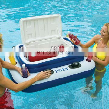 INFLATABLE FLOATING SWIMMING POOL BEVERAGE HOLDER COOLER