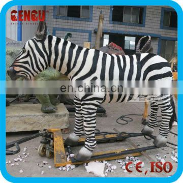 Outdoor life size animal statues
