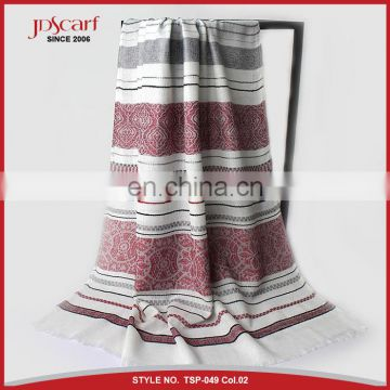 Women 100% polyester multicolor muslim scarf hijab fashionable scarf