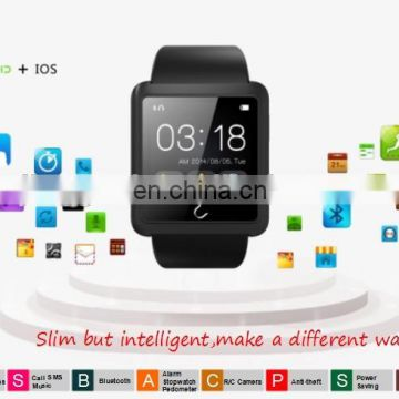 Bluetooth Smartwatch U10L with Pedometer Sport Wrist Watch G-Sensor Compass