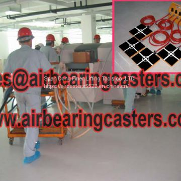 Air bearing casters application and pictures