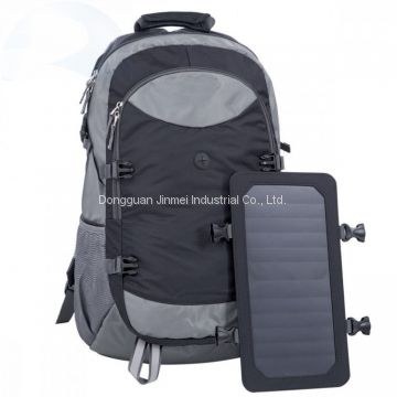 China factory Custom Anti Theft Solar Travelling Hiking Waterproof Backpack Bag with water