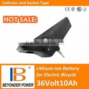 18650 battery pack, 36V10Ah rechargeable lithium ion battery for electric bicycle with BMS