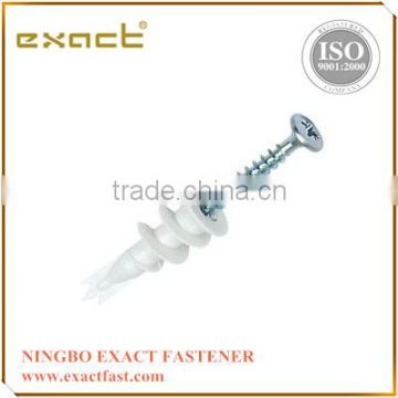 Hot selling Nylon speed anchor bolt with screw Nylon fixing anchor bolt