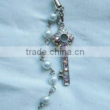 crystal cross mobile chain