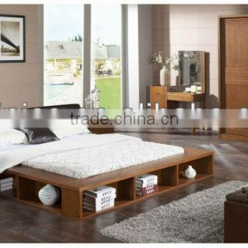 Contemporary Wooden Bedroom Set,Morden Bookcase Bed W Under ...