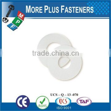 Made in Taiwan high quality plastic flat washer PVC Washer spring washer