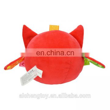 hot newborn baby bed hanging plush stuffed toy red fox squeaky toy